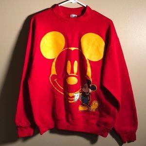 Vintage Mickey & Co. Sweatshirt Red Mickey Face
